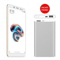 Pachet Promo Telefon mobil Xiaomi Redmi Note 5 dual SIM 3GB+32GB si Baterie externa Xiaomi Mi Power Bank 2 5000mAh