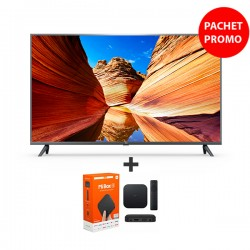 Pachet Televizor Xiaomi 4K Smart Android LED TV 108 cm si Mi TV Box S Xiaomi