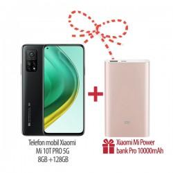 Pachet Promo Telefon mobil Xiaomi Mi 10T Pro 5G 8GB+128GB si CADOU Baterie externa Mi Power Bank Pro 10000mAh